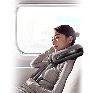 breo Neck Massage Pillow, Samesay Inflatable Travel Pillow for Airplanes Home Therapy Shiatsu Device and Neck Massage Tool for Car & Plane