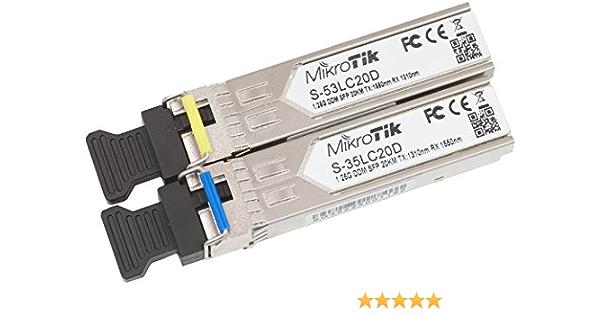 Mikrotik Routerboard S 3553lc20d Single Mode Optical Sfp Modul Mit Lc Stecker Kompatibel Mit Rb260gs Rb2011ls