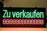LED Schild Zu verkaufen 80x36x4cm XXL