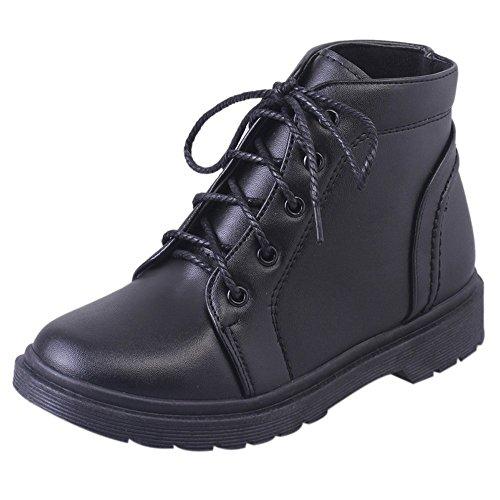 OHQ Bottes De Femmes éTudiantes Bottines Martin Noir Marron ÉTudiant Mode Chaussures à Talon éPais éPaisses Courtes Blanchenew Balance Femme Ville (38, Noir)