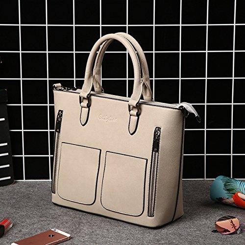 Pu Retro handtasche einfache großraum damen tasche Khaki