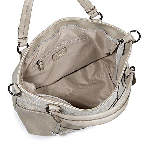 Gabor Avola Shopper Tasche 41 cm Grau/Silber