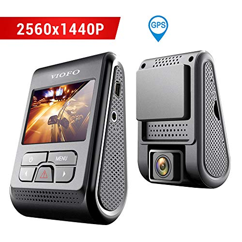 VIOFO A119 Dash Cam 2560x1440P 2K Super HD 160° Wide Angle Dash Camera Discreet Design with GPS Logger -