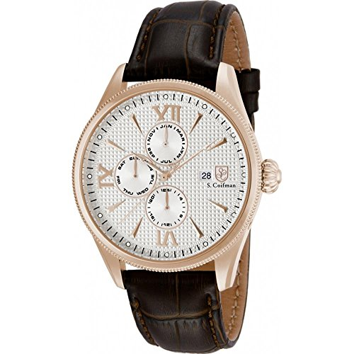 S Coifman SC0174 Mens Brown Leather Strap Watch