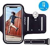 """Mpow Brassard iPhone 6/ 6s 4,7"""" Sports Sweatproof Etui Armband Case pour le Jogging/ Gym/ Sport, Confortable avec sangle réglable ,Noir..."""