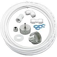 """10m Wasserzulaufleitung Universal Anschluss-Set für Kühlschrank Side by Side. Kühlschrankschlauch, Wasserschlauch 6,35mm(1/4"""")"""