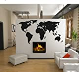 "XXXL Wandtattoo WELTKARTE - World Map Wandaufkleber Wandsticker Motiv ""Abstract""( Groesse: 220x114cm)"