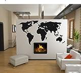 Wandtattoo WELTKARTE - World Map Wandaufkleber Wandsticker Motiv