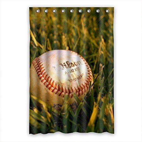 Doubee personalizzato erba opaco tessuto impermeabile doccia tenda 121,9x 182,9cm, Poliestere, E,