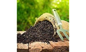 SAPRETAILER Earth Magic Enriched Organic Calcium Magnesium Sulphur Rich Potting Soil Mix with COCOPEAT Vermiculite VERMICOMPOST Cow Manure Organic Fertilizer Compost for Plants 10Kg
