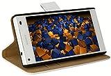 mumbi Tasche im Bookstyle für Sony Xperia Z5 Compact Tasche weiss