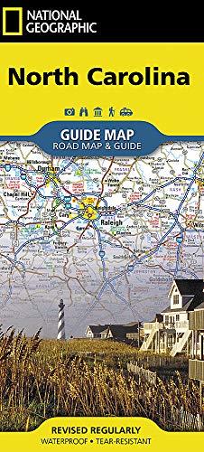 State Guide Map North Carolina (National Geographic Guide Map) (North Karte Von Carolina)