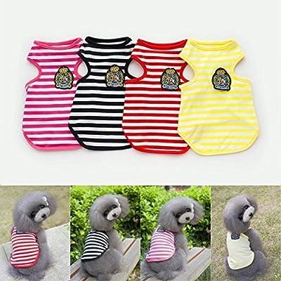 Bazaar gestreift, Baumwolle Kleine Hunde Welpe Tier Kostüm Kleidung Sommer-Kleidung Shirt Weste von Big Bazaar auf Gartenmöbel von Du und Dein Garten