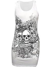 Emchugh Women's Digital Printed T Shirt Tank Stretch Sleeveless Vest