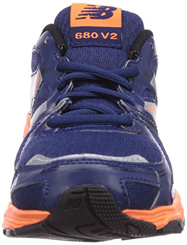 New Balance KJ680, Chaussures de running garçon Bleu (Noy Navy/Orange)