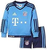 adidas Kinder Bekleidungsset FC Bayern München Mini-Heimausrüstung Torwart, Lucblu/Dkblue, 104, S08815