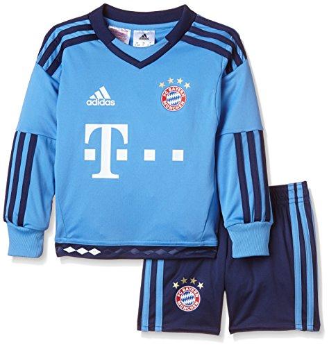 Adidas Kinder Bekleidungsset FC Bayern München Mini-Heimausrüstung Torwart, Lucblu/Dkblue, 92, S08815