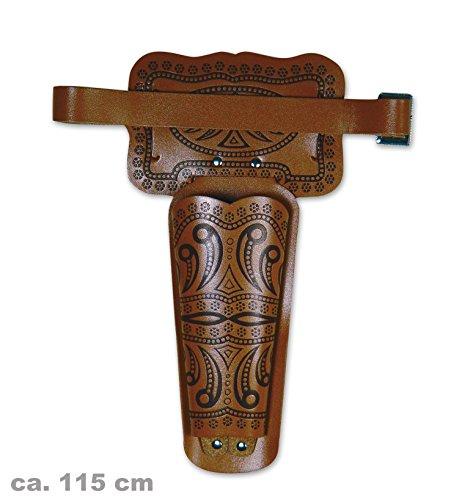 Revolvergürtel Erwachsene, ca.115 cm Länge (Lederfaserstoff) -