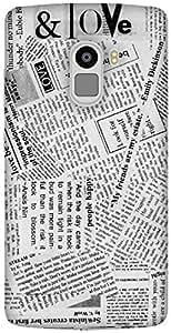 The Racoon Lean printed designer hard back mobile phone case cover for Lenovo K4 Note. (Good News)