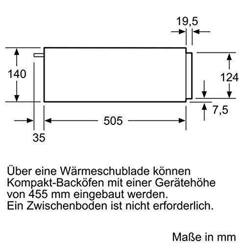 Siemens BI510CNR0 Wärmeschubladen / 59.4 cm / Edelstahl/Schwarz / Grifflos mit push und pull Öffnung