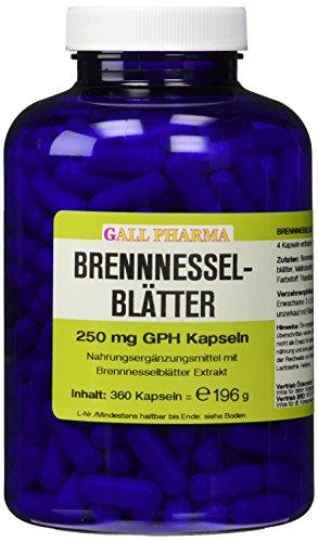 Gall Pharma Brennnesselblätter 250 mg GPH Kapseln 360 Stück