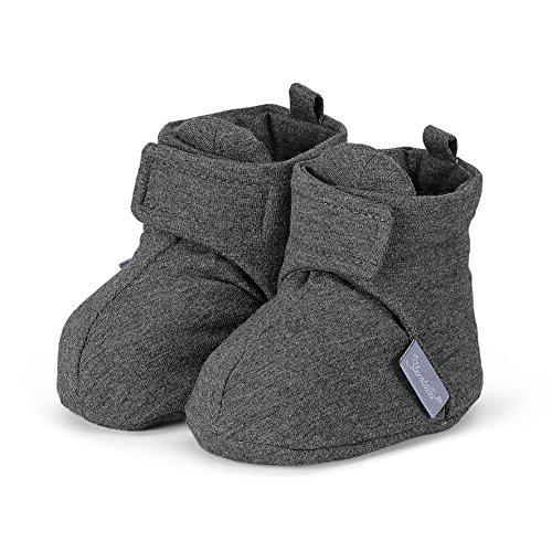 Sterntaler - Schuh, Scarpine e pantofole primi passi Unisex – Bimbi 0-24 Grigio (Grau (Asphalt 574))