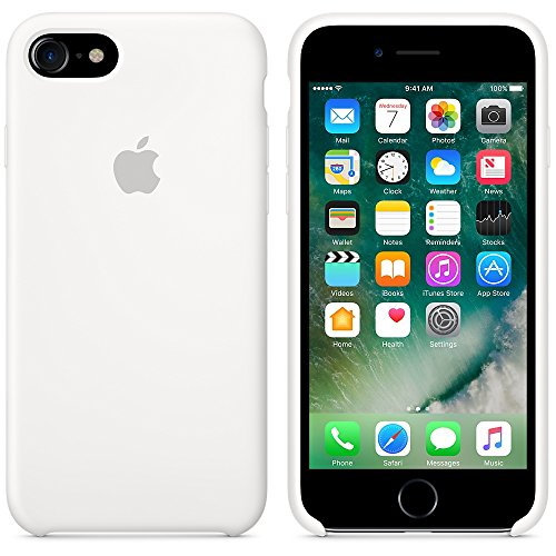 Apple MMY42ZM / A 7 iPhone mer bleue étui en cuir Blanc