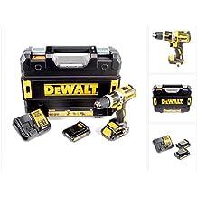 DeWalt DCD795S2-QW - Taladro Percutor sin escobillas XR 18V 13mm 60Nm Li-Ion 1,5Ah con maletín TSTAK