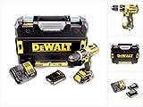 DeWalt XR Akku-Schlagbohrschrauber/ Schlagbohrer (mit LED-Licht zum Schrauben, Bohren und Schlagbohren/ 1x Schlagbohrmaschine Li-Ion 18 Volt + 2 Akkus, Ladegerät und TSTAK-Box) DCD795S2