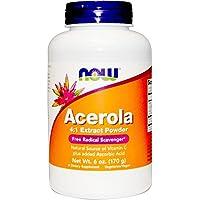Now Foods, Acerola 4: 1 estratto in polvere, 6 oz