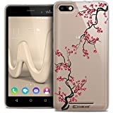 Caseink - Coque Housse Etui pour Wiko Lenny 3 [Crystal Gel HD Collection Summer Design Sakura - Souple - Ultra Fin - Imprimé en France]