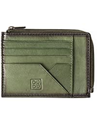 Monedero cartera porta documentos tarjetas hombre en piel con cremallera DUDU Verde