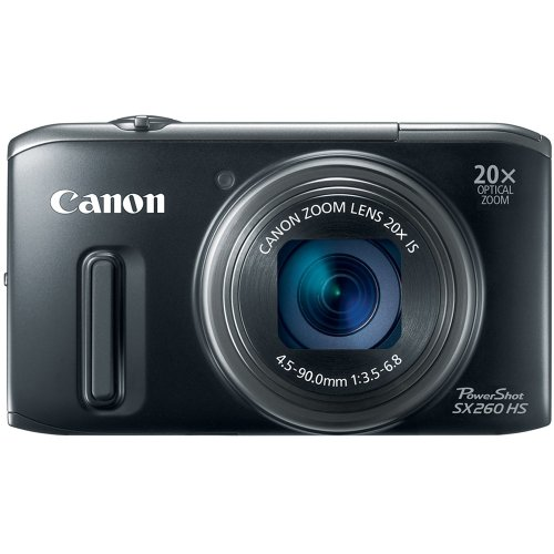 Canon PowerShot SX260 HS 12.1MP Point-and-Shoot Digital Camera (Black)