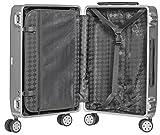 Packenger Alu Reisekoffer mit 33 Liter Fassungsvermögen in der Farbe Silber, 46x32x21cm, Zwei TSA-Schlösser - 2