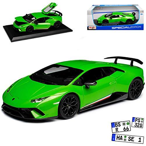 Lamborgihini Huracan Performante Coupe Grün Modell Ab 2014 Version Ab 2017 1/18 Maisto Modell Auto (Lamborghini Auto Modell)