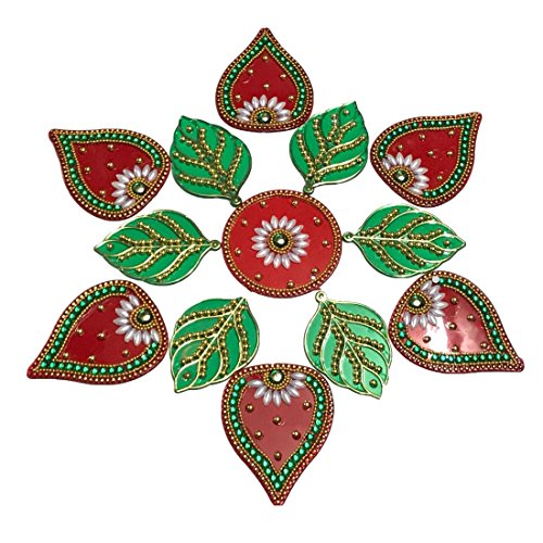 KRIWIN-FloorWallTable-Rangoli-Decorative-Showpiece-Acrylic