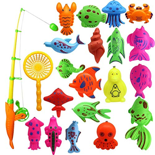 Kaimus set di giocattoli da pesca magnetici giocattolo per bambini da 22 pezzi giochi per il bagnetto