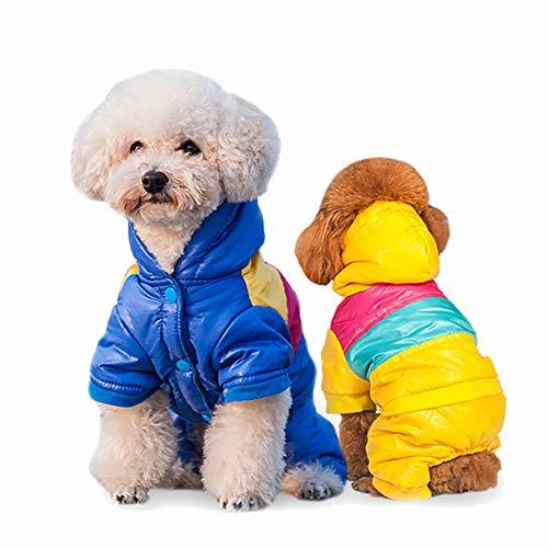 2 Stück Bunte Winter Gepolsterte Hund Weste Mantel Hoodies Katze Welpen Kalt Wetter Mäntel Jacke Kleiner Hund Unter 20Lbs (Es Läuft Klein, Nehmen Sie Die Nächste Eine Größe Bitte),L