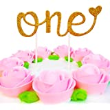 "New Design Handmade First Birthday Cake Topper -""One""- For Sweet Heart First Birthday Birthday Cake Decoration"