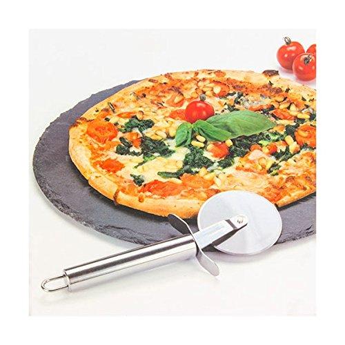 Pizza Set mit Schneider 2tlg. Ø30cm Pizza Stein Schiefer Platte Servierplatte