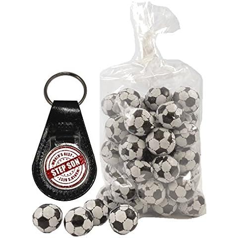 Del Mondo Best passo Son chiusura Design Portachiavi in pelle e 200g di cioccolato al latte palloni da calcio