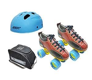 Jaspo Hail Stone Dual Shoe Skate Combo (Shoe Skates+ Helmet+Bag) (Size-1 UK (Age 7-8 yrs))