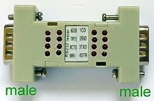 Winter ST8695B-RS232–Testeur Mini avec 16 LED-Mâle-mâle, - 9493