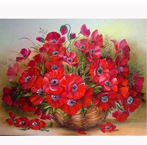 song710 Diamant-Mosaik-Blumen-heißes volles rundes Bohrgerät-Diamant-Stickerei-Bild von Rhinestones Beadwork 40X50CM -