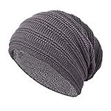 TOSKATOK® Unisex Hommes Chemise en laine doublée Chunky Knit Slouch Beanie Hat et Neckwarmer Snood pour les sports d'hiver en plein air Ski, Randonnée ...