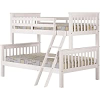 Seconique Neptune Triple Sleeper Bunk Bed Frame In White