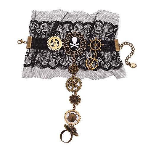 BLESSUME Victorian Steampunk Handgelenk Cuff Gear Armband Ein PCS (Mehrfarbig 14)