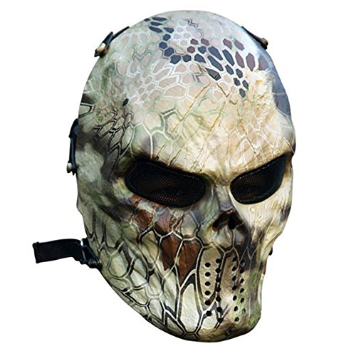 Typhoon Camouflage Jagd Zubehör Masken Ghost Tactical CS Planspiel Outdoor Militär Paintball Softair Totenkopf Full Face Maske
