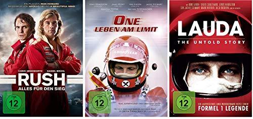 Niki Lauda - Rush / One-Leben am Limit / Lauda: The Untold Story im Set - Deutsche Originalware [3 DVDs]