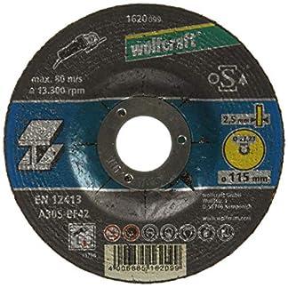 Wolfcraft 1620099 – Disco de corte para amoladora para metal, cubo deportado, granel Ø 115 x 2,5 x 22,23 mm